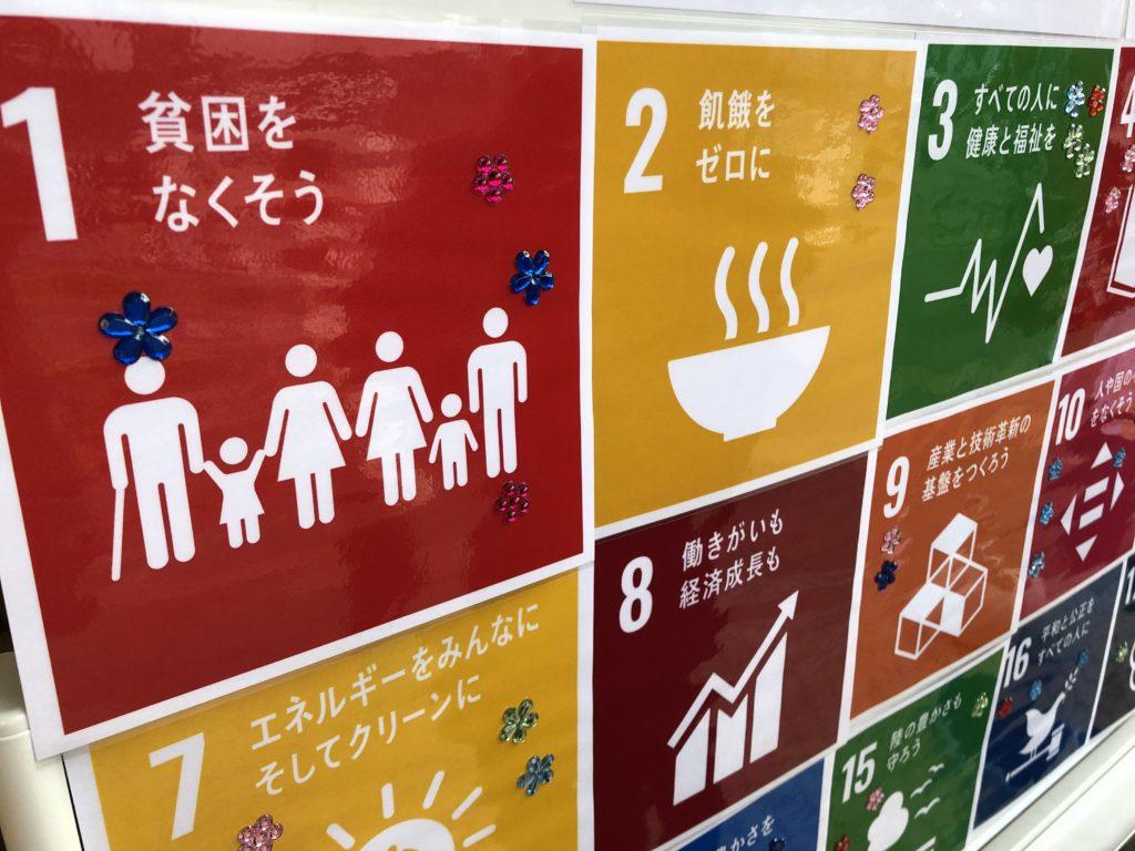 SDGsアクションにシールを貼った様子